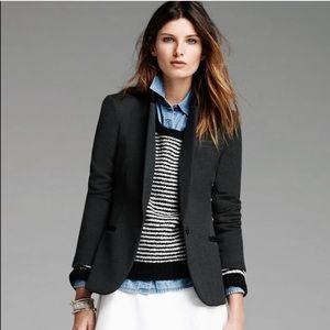 Banana Republic | Grey faux black leather blazer